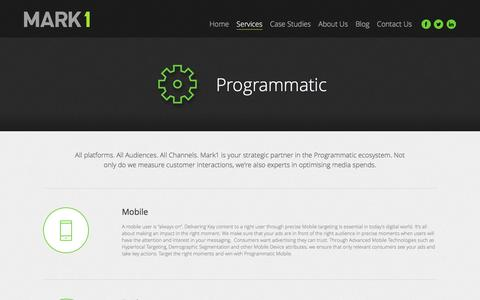 Screenshot of Services Page mark1.co.za - Programmatic - captured Nov. 27, 2016