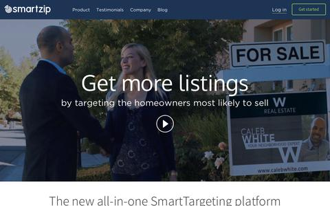 Screenshot of Home Page smartzip.com - SmartZip | Predictive Marketing for Real Estate - captured Dec. 9, 2015