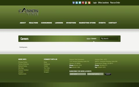 Screenshot of Jobs Page canyontitle.com - Careers - Canyon Title - captured Oct. 1, 2014