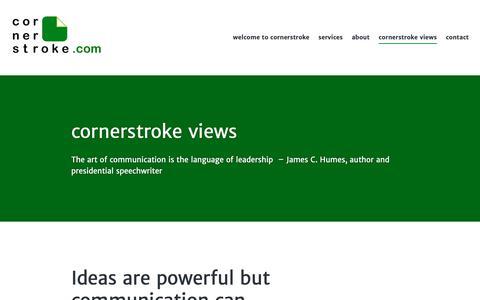 Screenshot of Blog wordpress.com - cornerstroke blog - captured Sept. 29, 2018