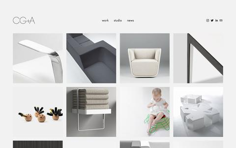 Screenshot of Products Page corygrosser.com - objects — Cory Grosser + Associates - captured Sept. 4, 2017