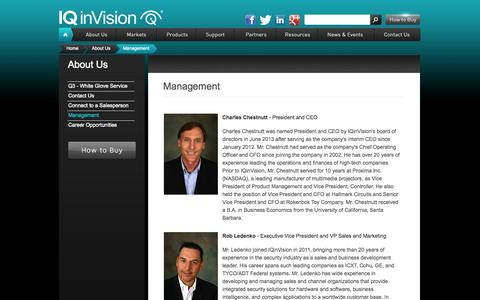 Screenshot of Team Page iqeye.com - Management | IQeye Smart Camera Systems - captured Sept. 24, 2014