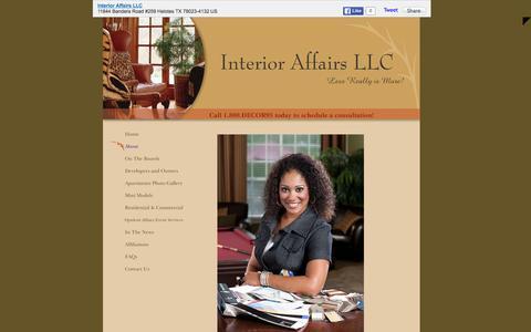 Screenshot of About Page interioraffairssa.com - Interior Affairs LLC - About - captured Feb. 11, 2016