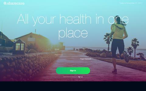 Screenshot of Signup Page sharecare.com - Sharecare - captured Nov. 18, 2017