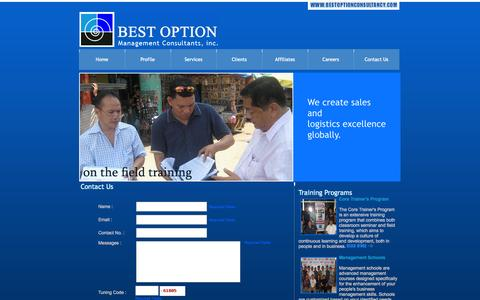 Screenshot of Contact Page bestoptionconsultancy.com - Best Option Management Consultants, Inc. - captured Oct. 5, 2014