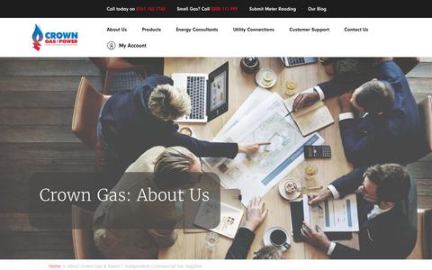 Screenshot of About Page crowngas.co.uk - About Crown Gas & Power | Suppliers from Greater Manchester - captured Nov. 11, 2018