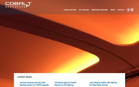 Screenshot of Home Page cobaltaerospace.com - Home - Cobalt Aerospace - captured Sept. 28, 2018