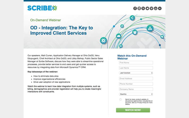OD - Integration: The Key to Improved Client Services On-Demand Webinar