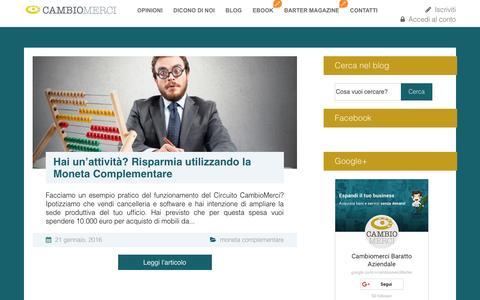 Screenshot of Blog cambiomerci.com - Blog - Cambiomerci - captured Jan. 24, 2016