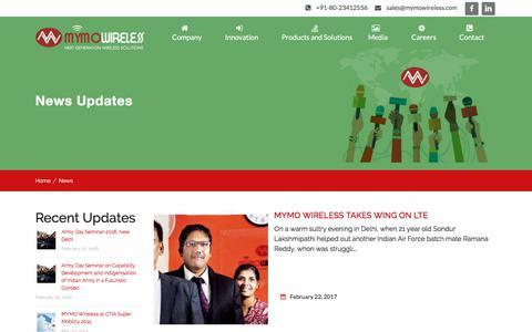 Screenshot of Press Page mymowireless.com - News Archive - Mymo Wireless - captured Oct. 4, 2017