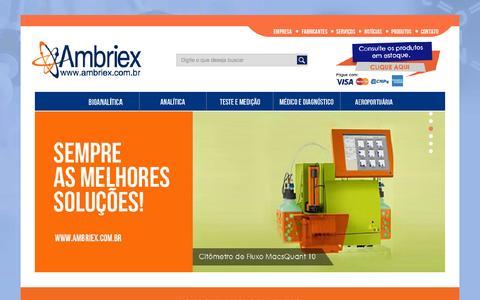 Screenshot of Home Page ambriex.com.br - Ambriex - captured Sept. 10, 2015