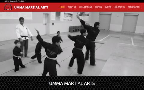 Screenshot of Home Page ummamartialarts.com - HOME - UMMA Martial Arts - captured July 26, 2018