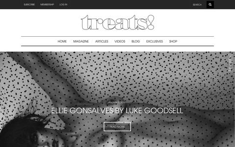 Screenshot of Home Page treatsmagazine.com - Treats Magazine - captured Jan. 17, 2016