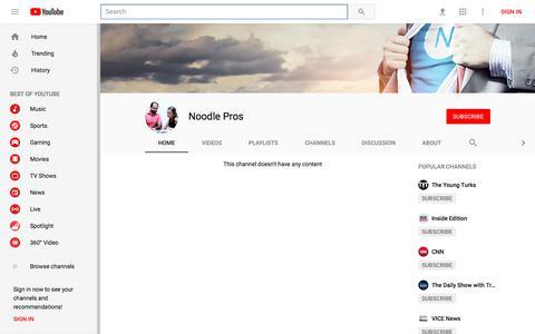 Noodle Pros - YouTube - YouTube