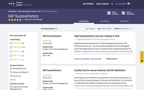 SAP SuccessFactors Software Reviews | Gartner Peer Insights