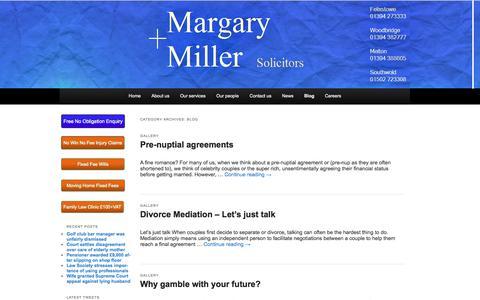 Screenshot of Blog margary-miller.co.uk - Margary & Miller BlogMargary + Miller - captured Oct. 27, 2014
