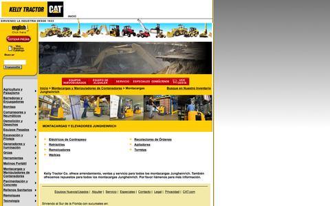 Screenshot of Landing Page kellytractor.com - Montacargas y Elevadores Jungheinrich, Repuestos para Montacargas y Elevadores Jungheinrich - Kelly Tractor Co. - captured Aug. 12, 2016
