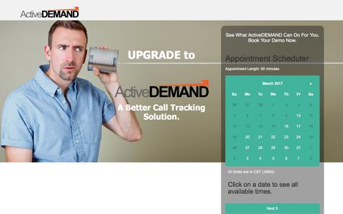 Screenshot of Landing Page activedemand.com - Get More From Your Call Tracking - captured March 10, 2017