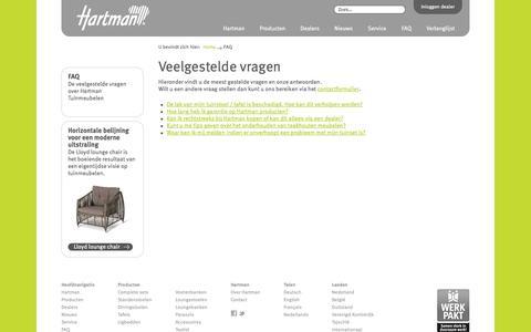 Screenshot of FAQ Page hartman.nl - Veelgestelde vragen | Hartman - captured Oct. 2, 2014