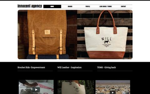 Screenshot of Home Page innocentagency.com - innocent-agency - captured Sept. 30, 2014