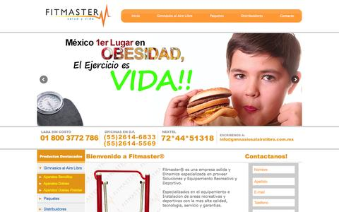 Screenshot of Home Page gimnasiosalairelibre.com.mx - Gimnasio al Aire Libre,  Fabricante de Ejercitadores - captured Nov. 12, 2015
