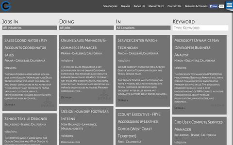 Screenshot of Jobs Page gamechangersus.com - Gamechangers |  Search Jobs - captured Oct. 27, 2014