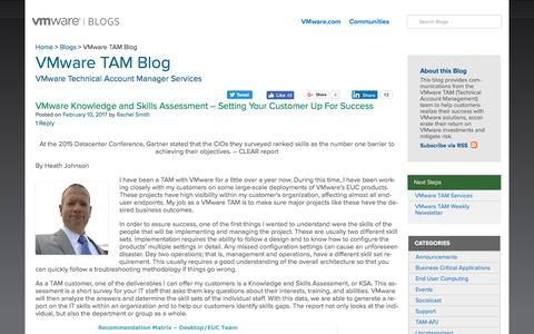 VMware TAM Blog - VMware Technical Account Manager Services - VMware Blogs