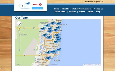 Screenshot of Team Page tinlof.com - Our Team - TinLof - captured Nov. 5, 2014