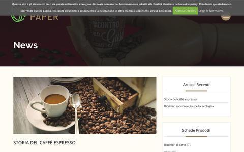 Screenshot of Press Page cisapaper.com - News Archivi - Cisapaper - bicchieri di carta, carta filtro caffè - captured July 31, 2017