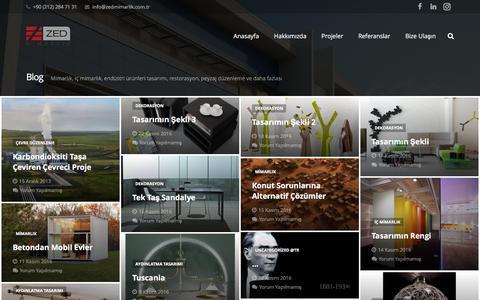 Screenshot of Blog zedmimarlik.com.tr - Blog - Zed Mimarlık - captured Nov. 28, 2016