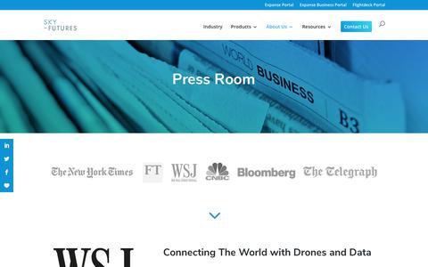 Screenshot of Press Page sky-futures.com - Press room - captured Oct. 20, 2018