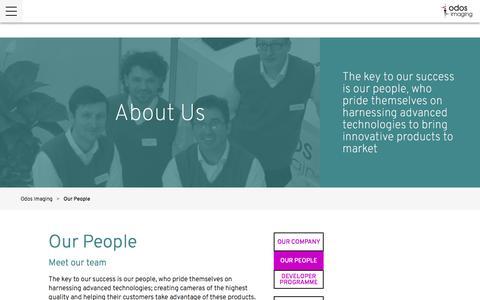 Screenshot of Team Page odos-imaging.com - Our People - Odos Imaging - captured Dec. 6, 2016
