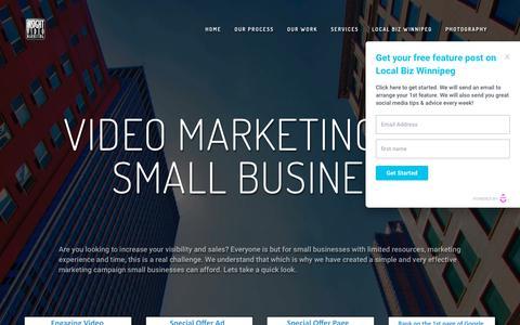 Screenshot of Home Page insightvideomarketing.com - Insight Video Marketing - captured Sept. 19, 2018