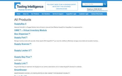 Screenshot of Products Page toolingintelligence.co.uk - Products Archive | Tooling Intelligence - captured Oct. 7, 2014