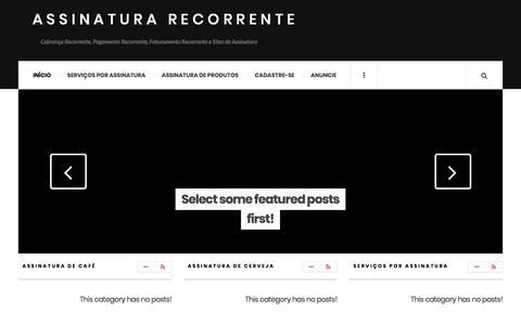 Screenshot of Home Page assinaturarecorrente.com - Assinatura Recorrente - Cobrança Recorrente, Pagamento Recorrente, Faturamento Recorrente e Sites de Assinatura - captured Sept. 22, 2018