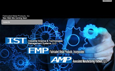 Screenshot of Home Page fmp-ga.com - Fabricated Metal Products, Inc - captured Oct. 5, 2014