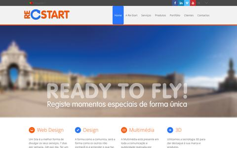 Screenshot of Home Page re-start.pt - Re-Start - Made for you! - captured Oct. 9, 2014