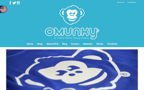Screenshot of Home Page omunky.com - OMUNKY - OMUNKY - captured June 18, 2017
