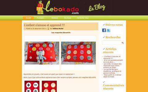 Screenshot of Blog lebokado.com - blog.lebokado - captured Oct. 27, 2014