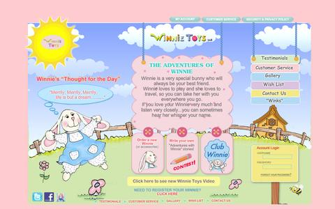 Screenshot of Home Page winnietoys.com - Welcome to Winnie Toys! - captured Oct. 9, 2014