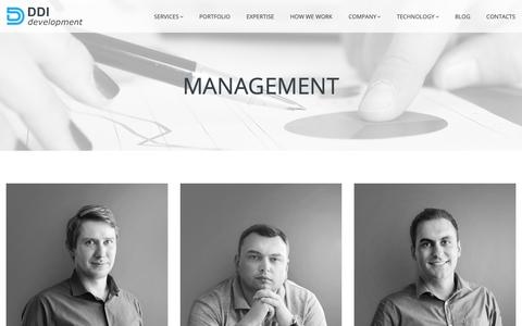 Screenshot of Team Page ddi-dev.com - Management at DDI Development company - captured Oct. 7, 2018