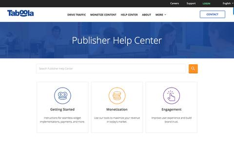 Publisher Help Center | World's Largest Discovery Platform | Taboola
