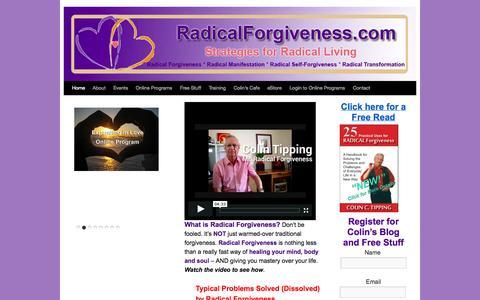 Screenshot of Home Page radicalforgiveness.com - Forgiveness - What is Radical Forgiveness?     Radical Forgiveness - captured Sept. 23, 2014