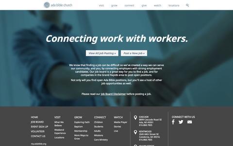Screenshot of Jobs Page adabible.org - Jobs Archive - Ada Bible Church - captured Oct. 4, 2014