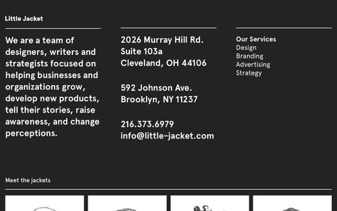 Screenshot of About Page little-jacket.com - About Us - Little Jacket - captured July 20, 2018