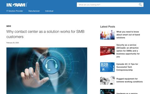 Screenshot of Case Studies Page ingrammicro.com - The advantages of contact center as a solution for SMBs - captured Feb. 20, 2020