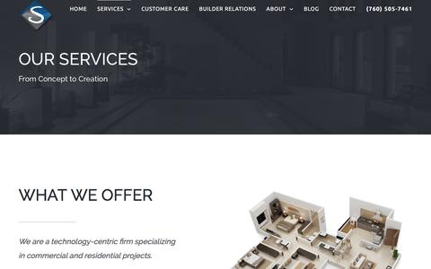 Screenshot of Services Page shultzav.com - San Diego Audio Visual Company | San Diego Home AV Installation - captured Dec. 3, 2016