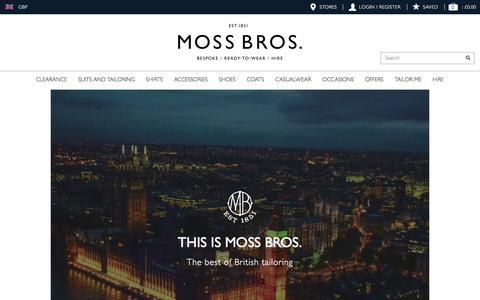 Screenshot of About Page moss.co.uk - About Us | Moss | Leading Formal Menswear Specialist - captured Aug. 30, 2016