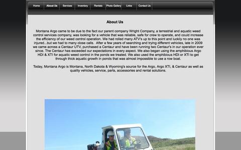 Screenshot of About Page montanaargo.com - How Montana Argo Started - captured Oct. 9, 2014