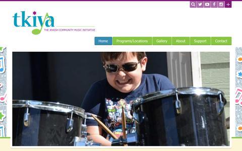 Screenshot of Home Page tkiya.org - Home - Tkiya: The Jewish Community Music InitiativeTkiya: The Jewish Community Music Initiative - captured Oct. 24, 2017